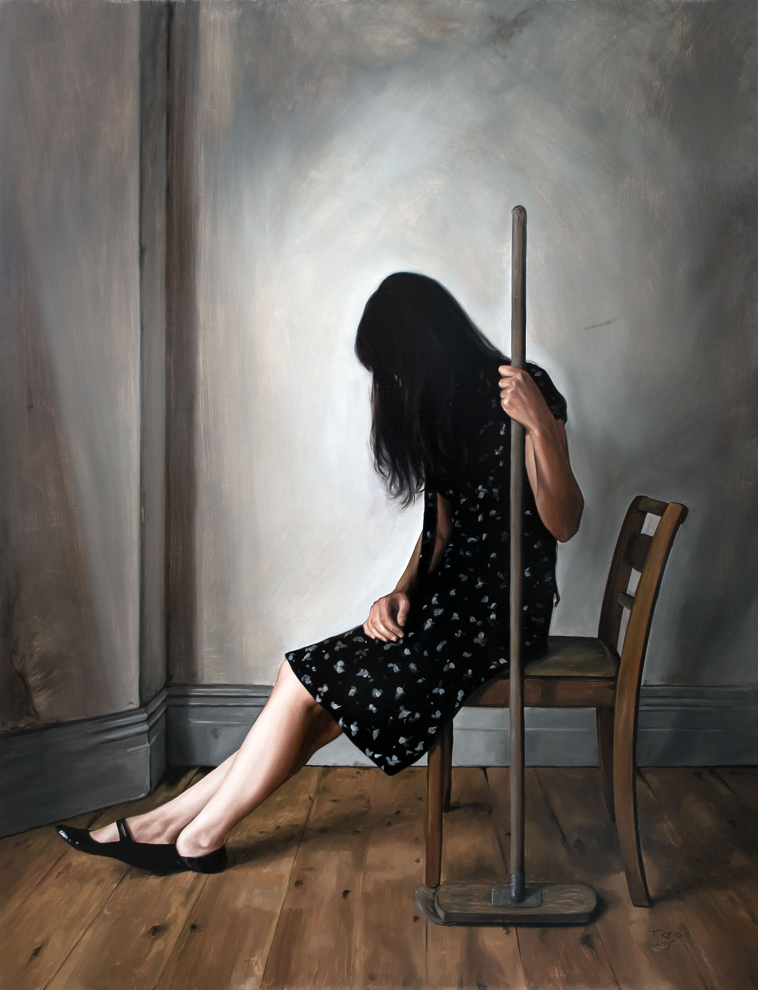 Cinderella, oil on panel, 107x82cm