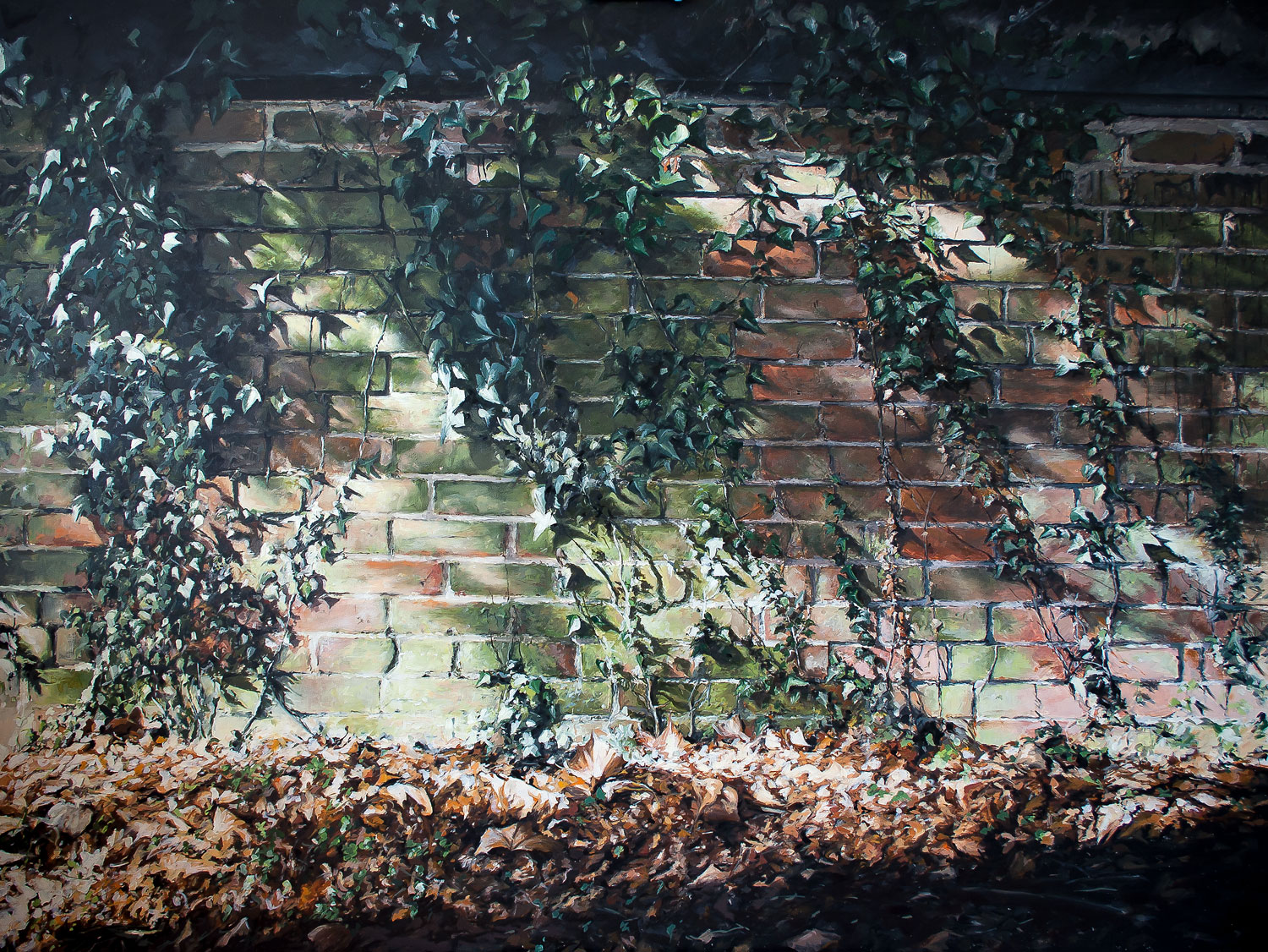 Pew Hill, oil on panel,