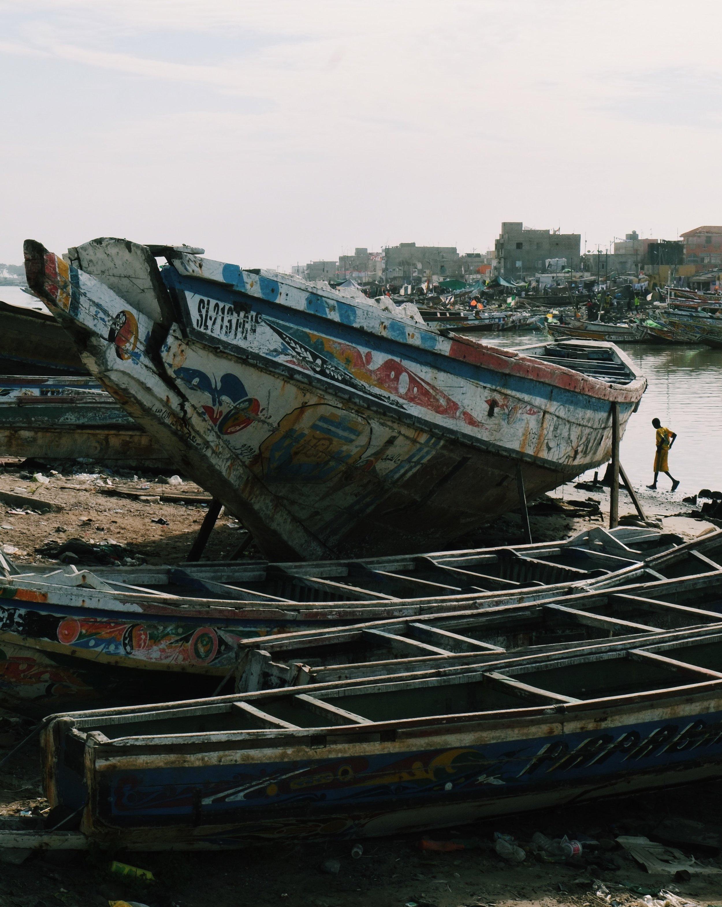 Saint-Louis boats in Senegal by Joost Bastmeijer.jpeg