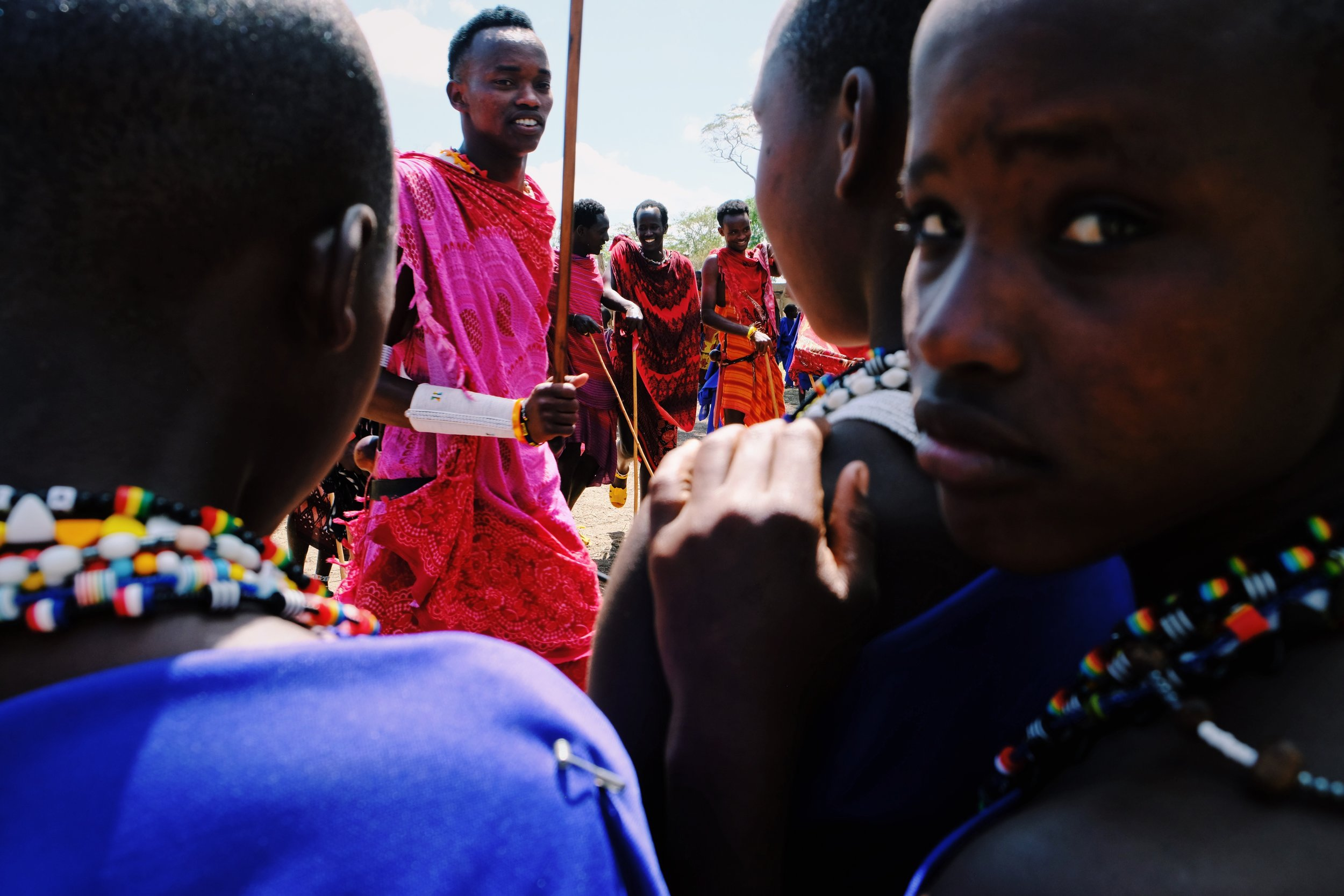 Morans and masai girls in Kilindi Tanzania.JPG