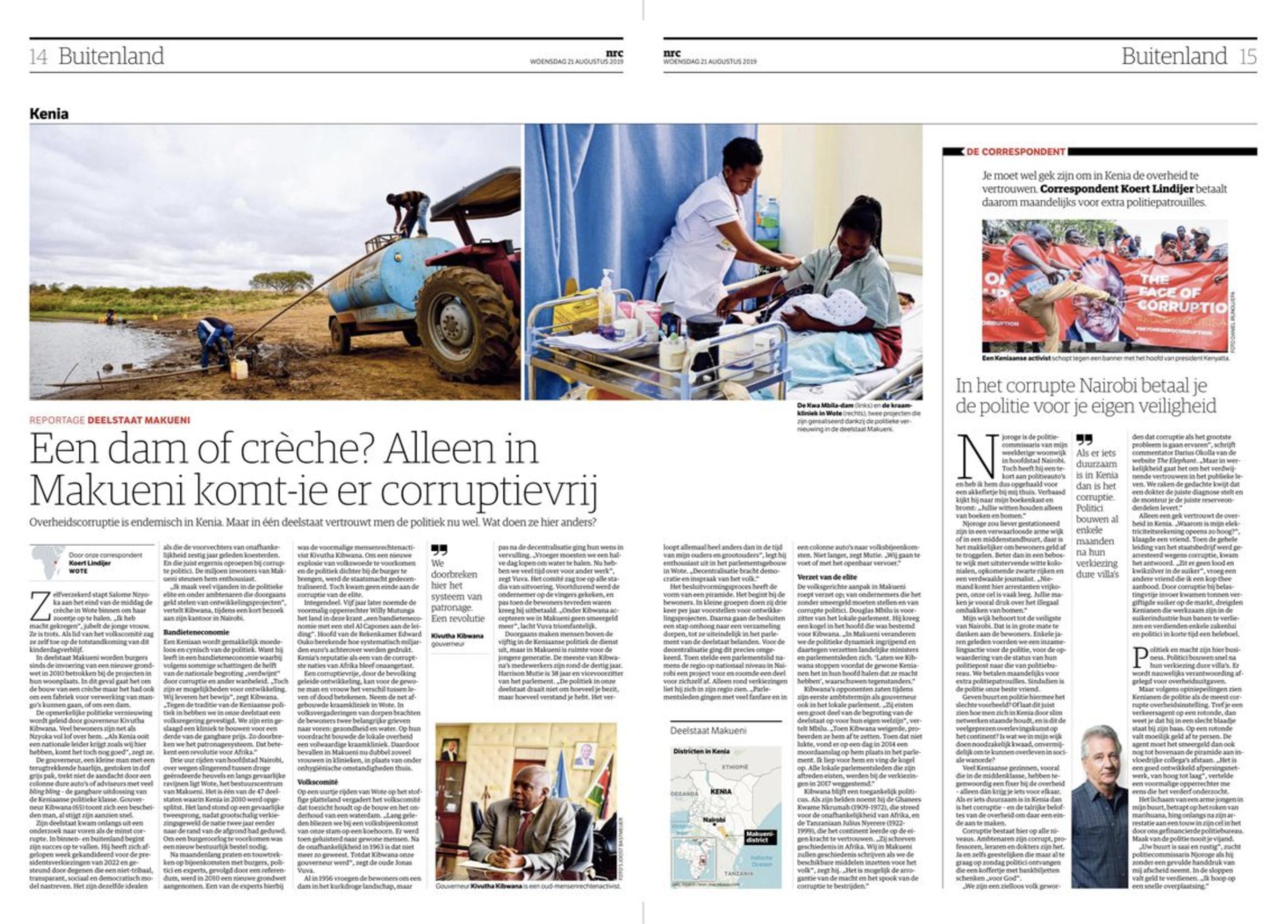 Kibwana Makueni County NRC Handelsblad Joost Bastmeijer