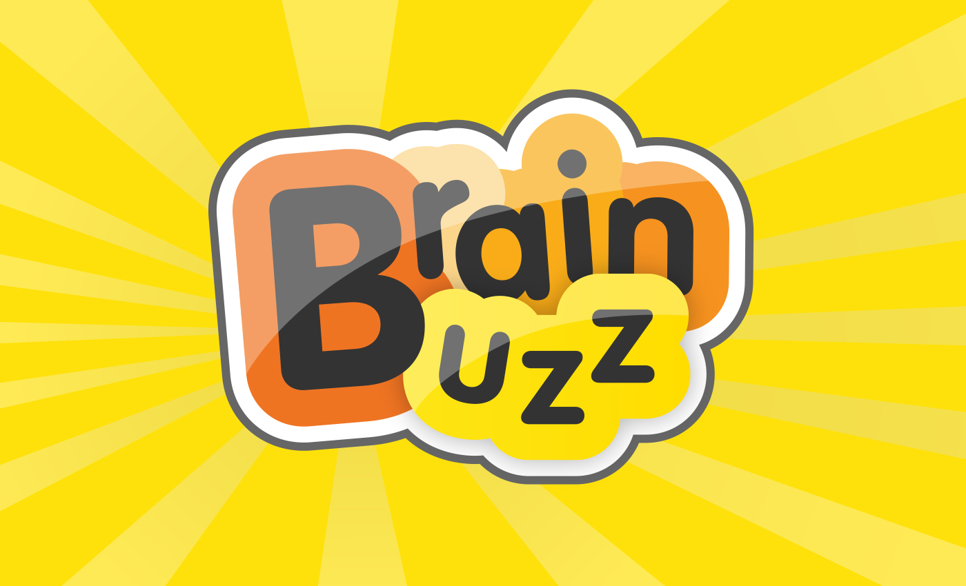 'Brain Buzz' branding. Using the Microsoft Office 2010 colour scheme and moved the letters around to create a silhouette of a brain!
