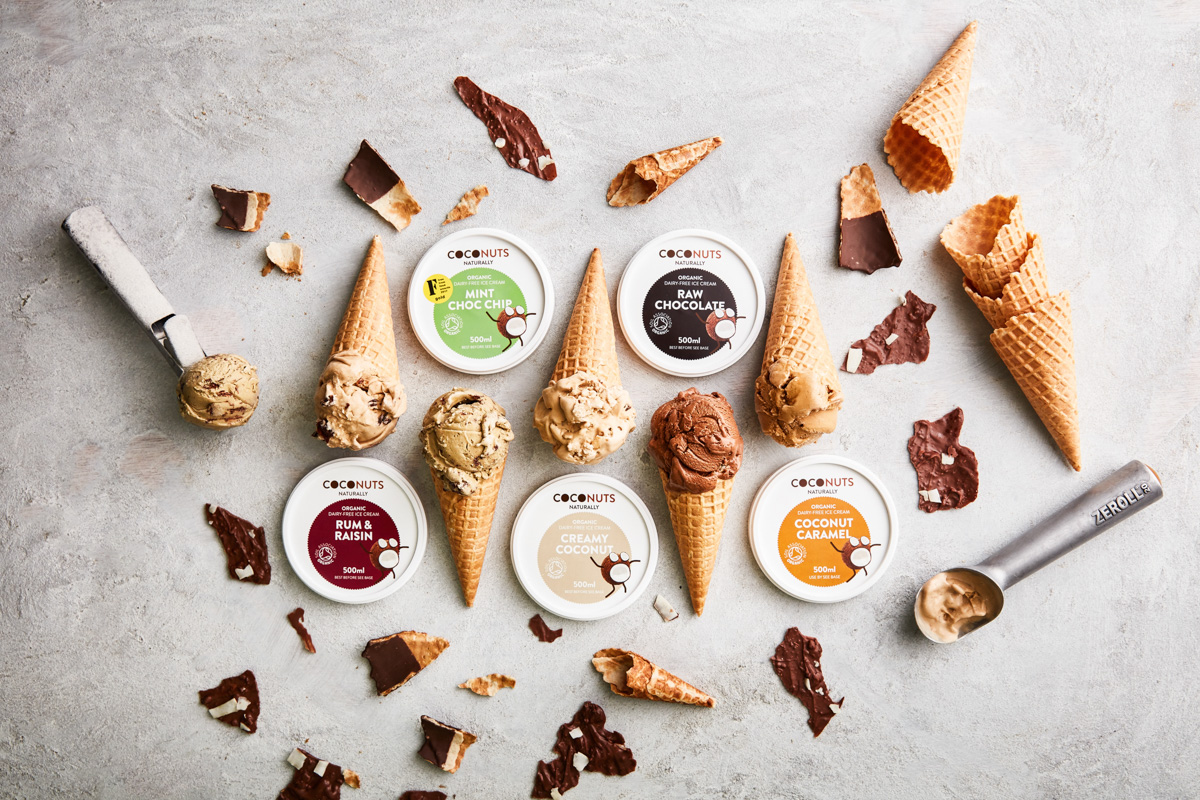 Exceptional vegan ice cream - Coconuts Naturally is made with coconut cream and unrefined coconut sugar. We add just a few other natural ingredients to this base create our five award-winning flavours.BUY US IN OCADO