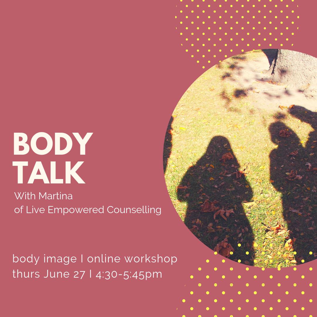 Body talk body image online workshop