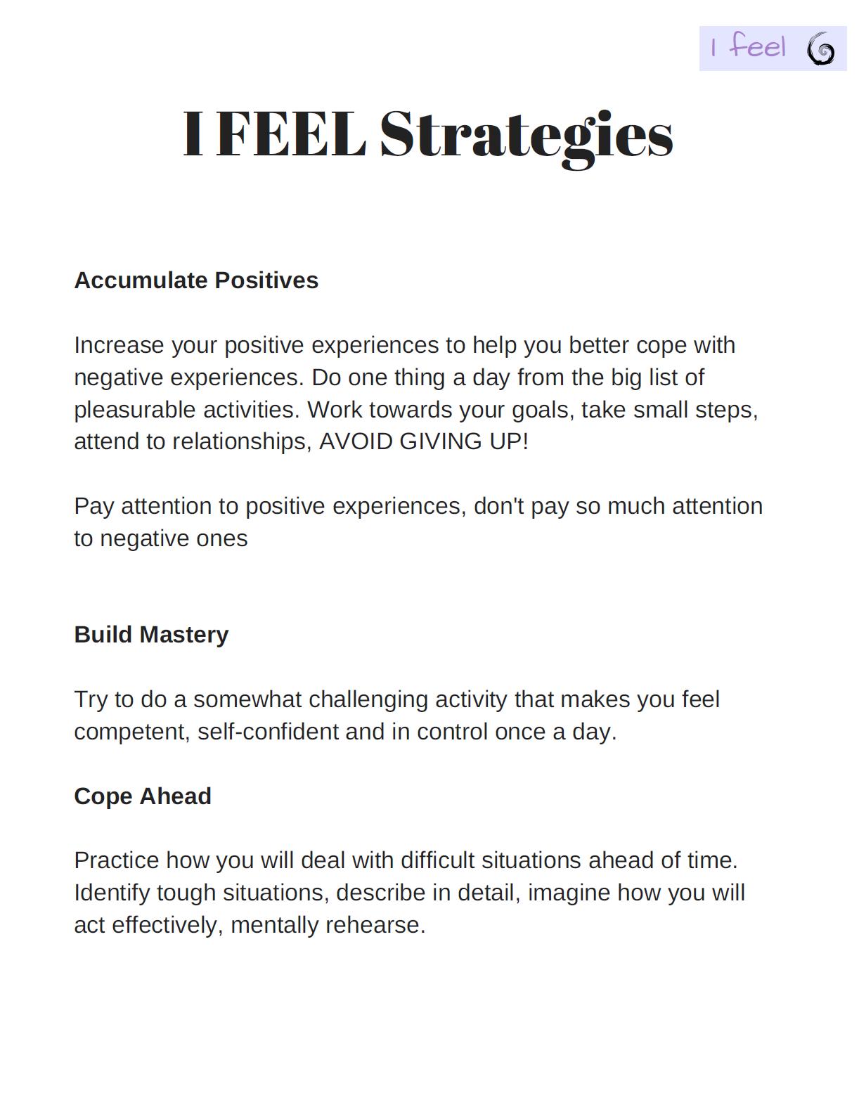 I Feel Strategies