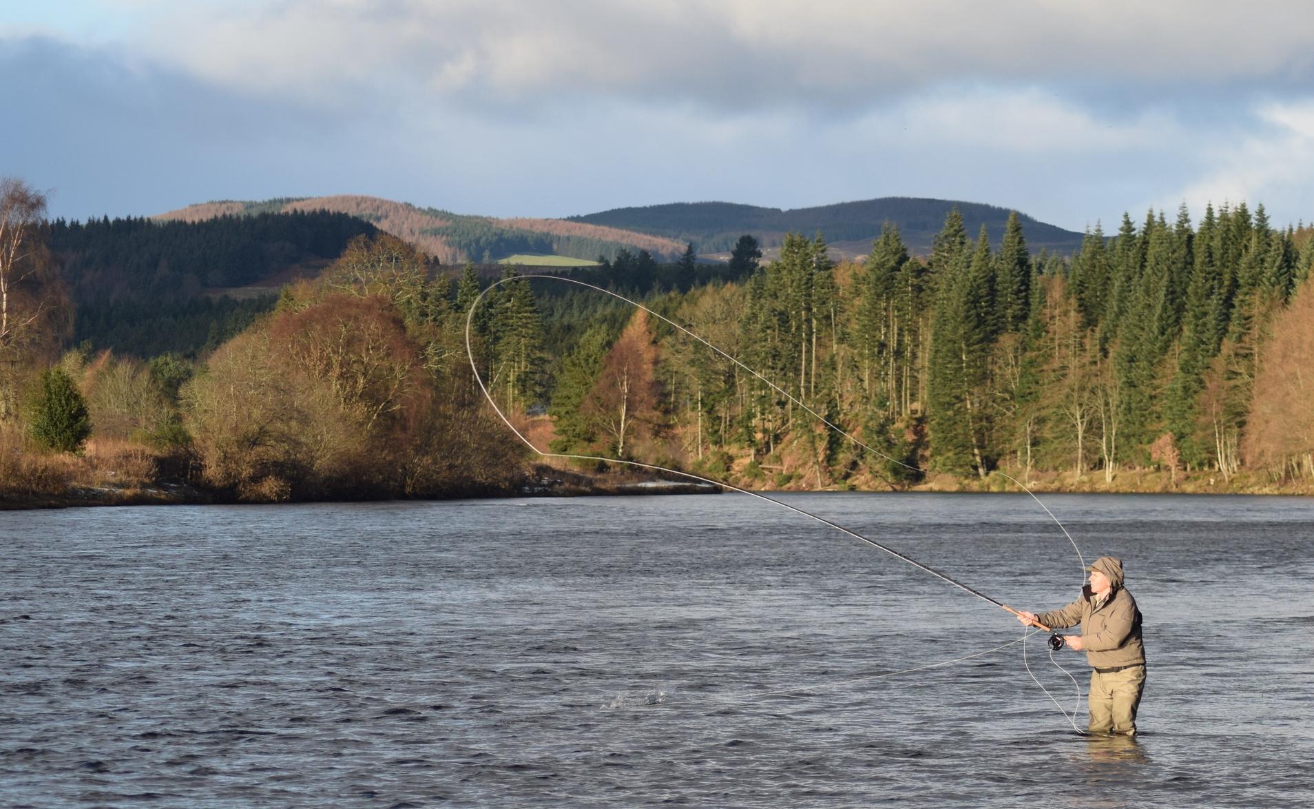 Salmon Fishing on the Dalmarnock beat of the River Tay