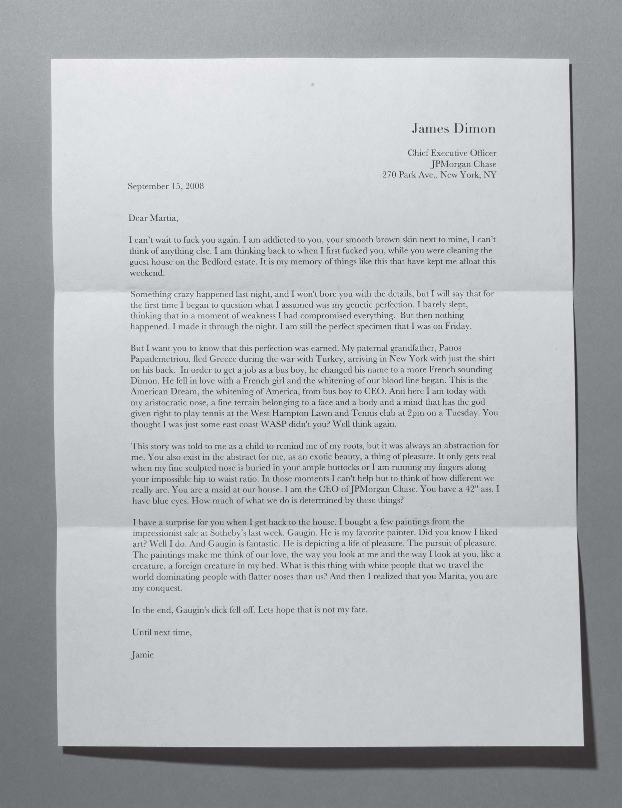 Letter to Martia