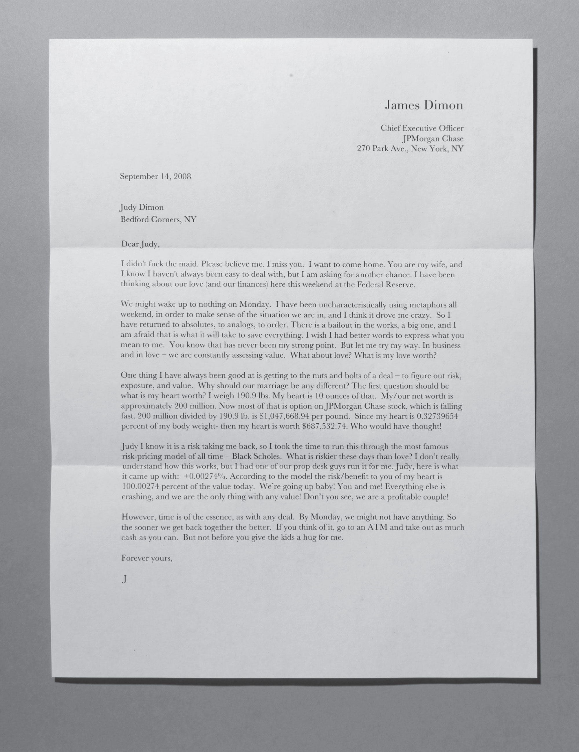 Letter to Judy
