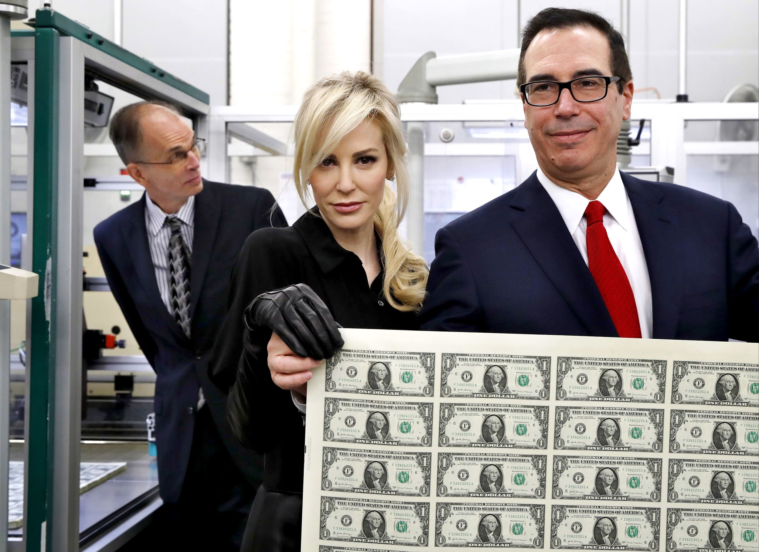 Steven Mnuchin, Secretary of the Treasury posing as a Bond villain.
