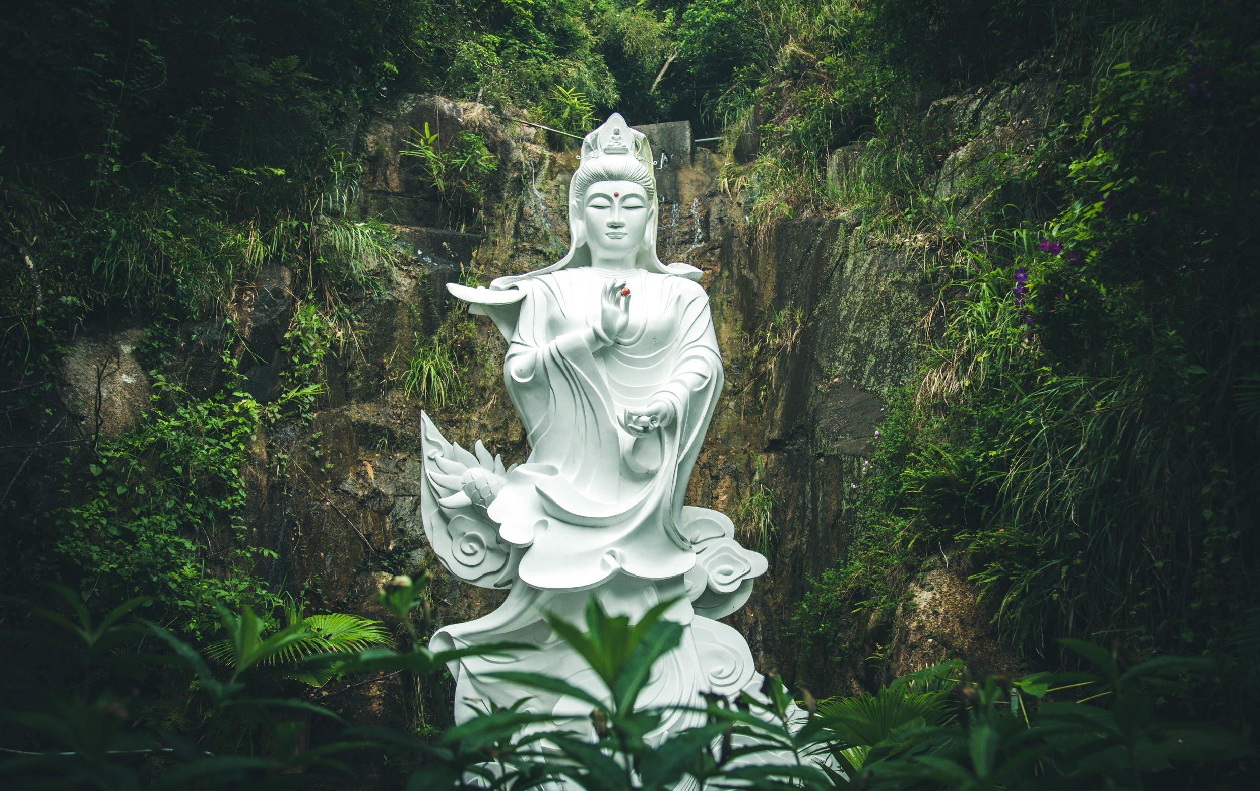 Beautiful White Buddha Statue