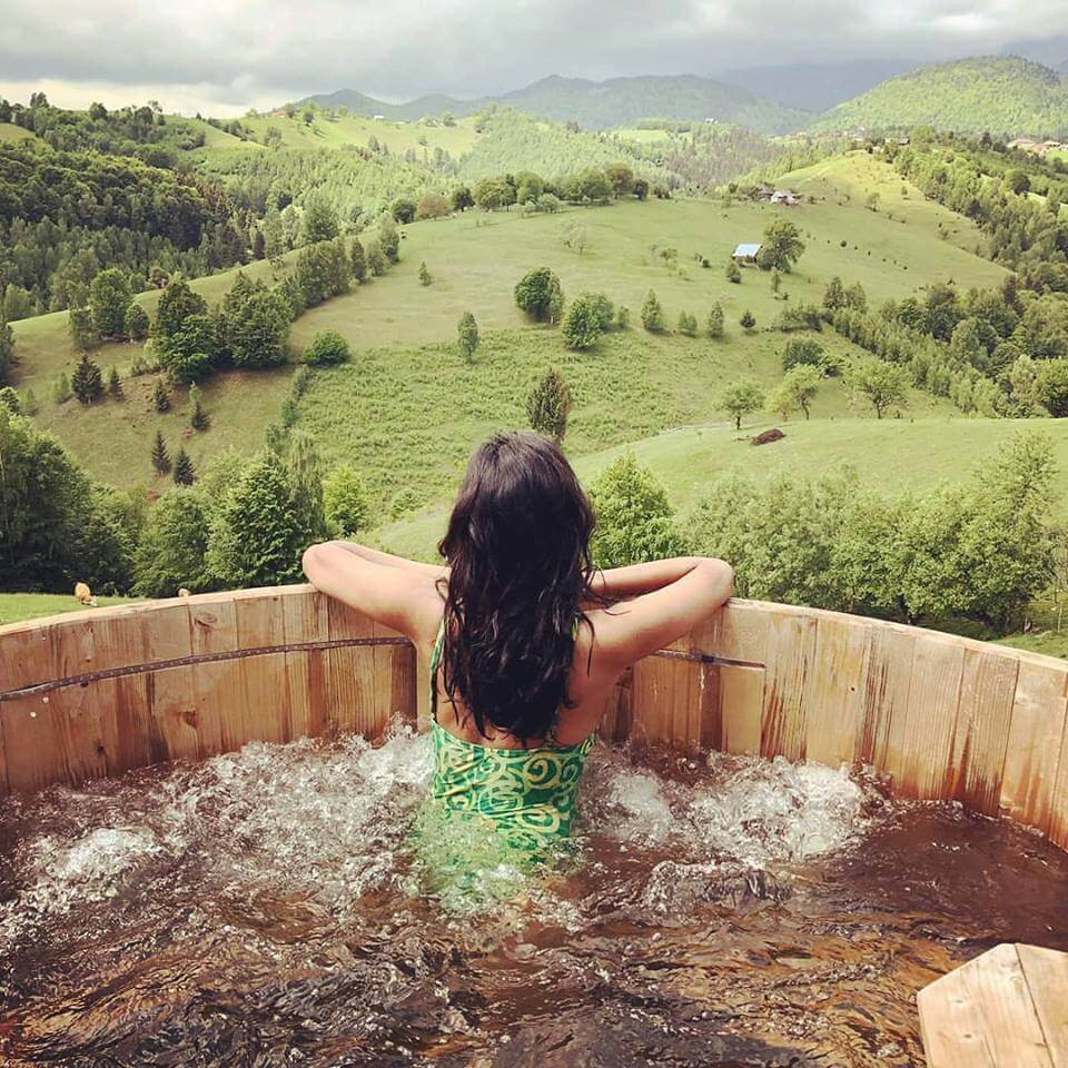 Hot Tub View from Akasha Wellness Retreat