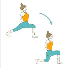 Crescent High Lunge Pose Arms On Hips Flow  Ashta Chandrasana Arms On Hips Vinyasa
