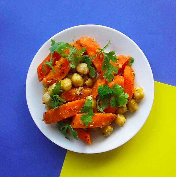 (gluten free, dairy free, nut free, soy free)     carrot, chickpea, coconut oil, coriander, mustard, honey, cumin, olive oil, apple cider vinegar, garlic, salt & pepper