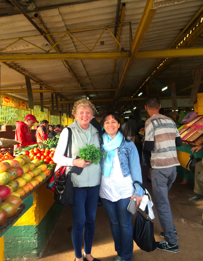 We've made good friends all along the way. Here I am shopping in Cuba with our host Julia - her  Airbnb  in Havana is amazing!