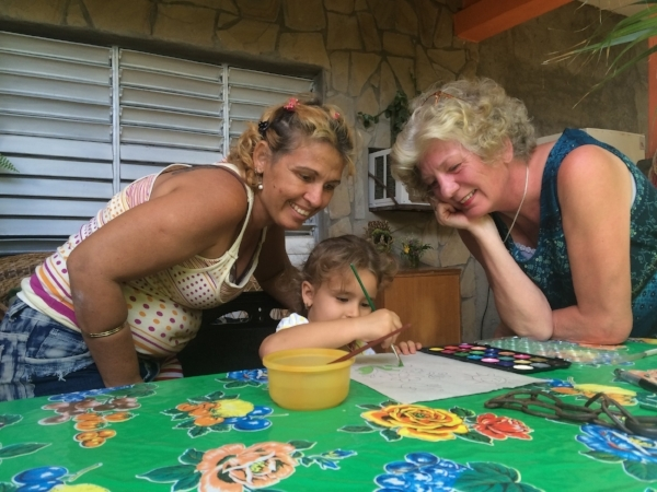 We made new friends young and old everywhere we stayed in Cuba.