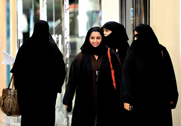 The majority of the women we saw were dressed like this, but many also covered their faces further leaving just a small slit for their eyes.