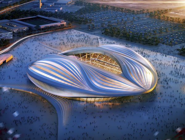 Here is just one of nine stadiums currently under construction in and around Doha. Amazing!