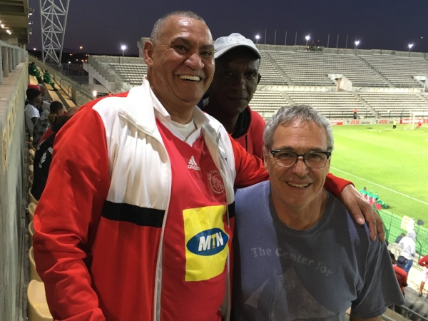 We met our new pal Aubrey at a football match in Cape Town. We were in the stadium parking lot and had just found out we couldn't buy tickets at the gate, Audrey overheard our plight and pulled two extra tickets from his pocket and invited us as his guests. We enjoyed the match from the best seats in the house and an affable local's point of view.