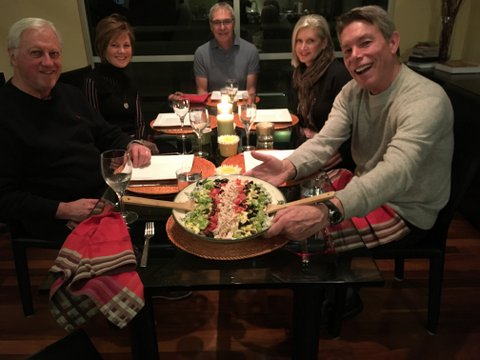 When we are home in Seattle, we see as many good friends as possible. Here is a dinner we hosted while house-sitting with our forever friends Carla Murray, Tom Robinson, Suzanne Height and Rich Cardwell.