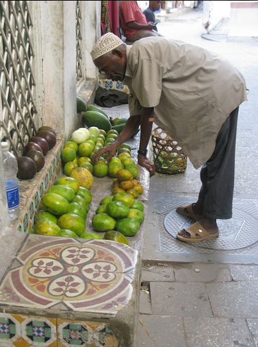 Jamal, our sort of door man and purveyor of fresh fruit.