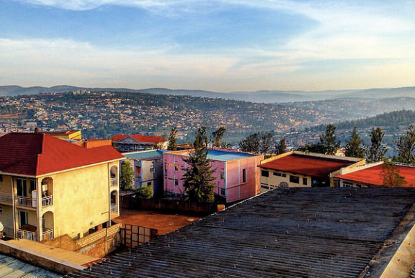 Kigala and the surrounding hills of Rwanda were colorful and clean.