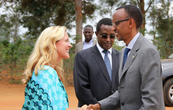 Soozi with President Kagame. He attended the schools first graduation ceremony in 2013.