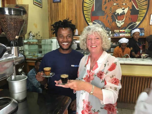 Our Go Addis guide Desalegn was committed to making sure we left his city filled with happy memories and some authentic Ethiopian coffee.