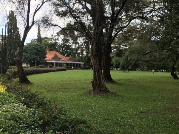 At Karen Blixen's house we stepped into the film set of  Out of Africa .