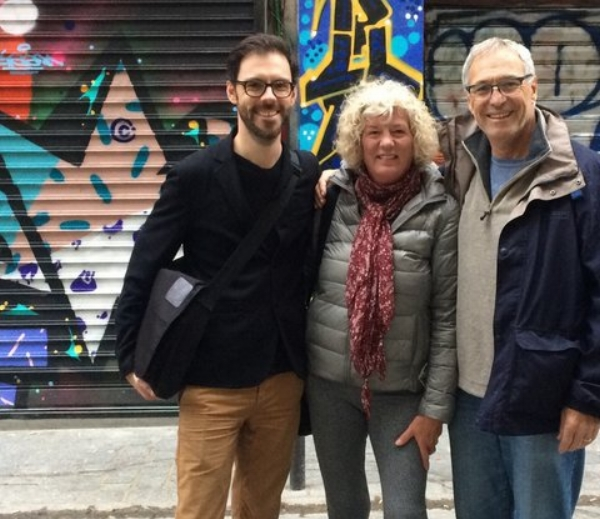 "Airbnb Experiences are an interesting way to see ""behind the scenes"" of a city. Here we are on a  tour of street art in Paris  that ended with time in the studio of the famous artist Mr. Pee."