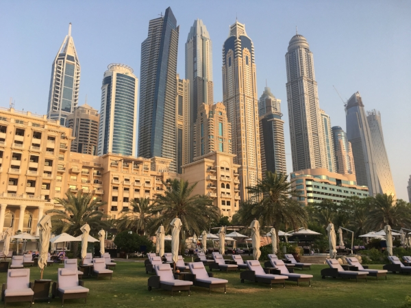 We strolled the magnificent grounds and the private beach at The Westin Dubai. Just looking.