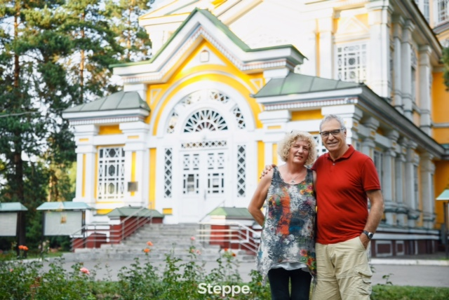 One of the photos taken by George Chumakov in front of the famous Zenkov cathedral for the story about us in The Steppe.
