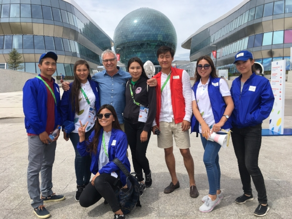 I immediately bonded with the young event staff at Astana Expo 2017.