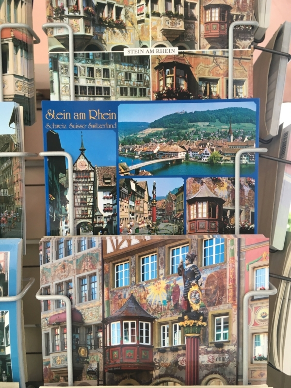 Snapping a picture of postcards is one way to catch the highlights of a place when you can only stop for lunch!