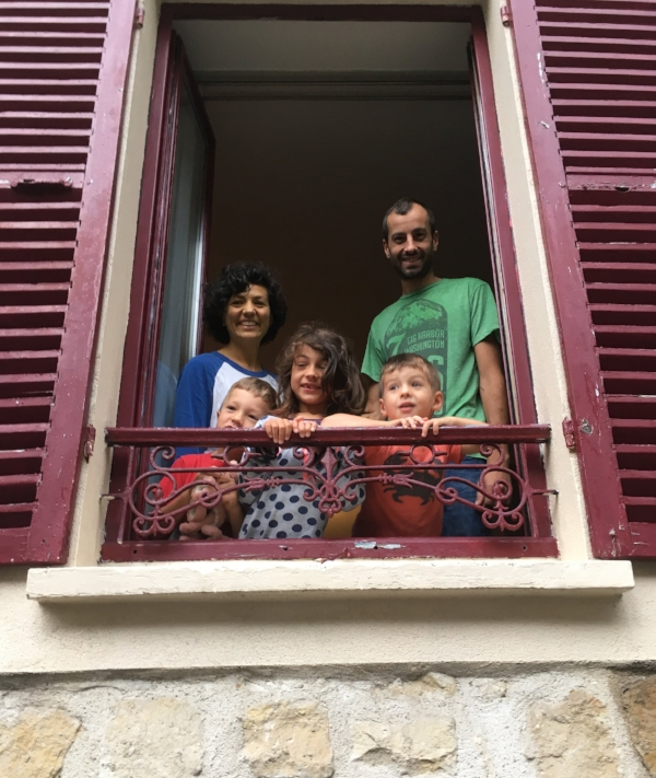 The Bourons all settled into a new home in the village of Samois sur Seine