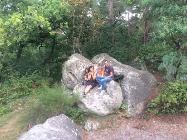 Enjoyed the wide open spaces of the Fontainbleau Forest along with some very big rocks!