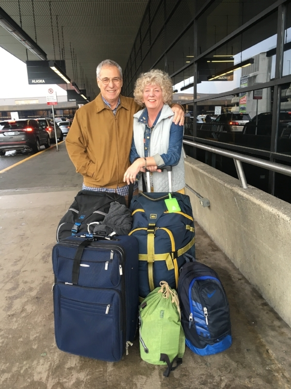 Heading out on Round VI of our Senior Nomads adventures. A little overweight - but who isn't after the holidays! In this case, the extra blue suitcase was full of Christmas presents.