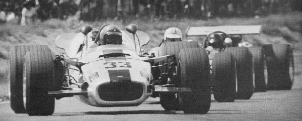 Pictured here, the 3rd car in this pack with the wing, he was racing in the 1970 Tasman Series in his Formula 500 car in New Zealand.