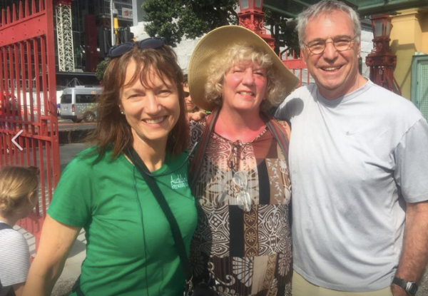 We always look for a Free Walking Tour, and found one in Auckland. When we showed up on the day our guide greeted us like old friends. Louise reminded us we'd met us in Los Angeles at the Airbnb Open in 2016 and loved our book!
