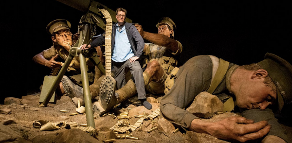 Weta Workshop's co-founder and creative director Sir Richard Taylor with models.