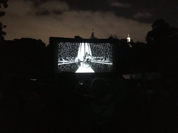 Watching The Shape of Water under the stars in the Botanical Gardens was perfect.