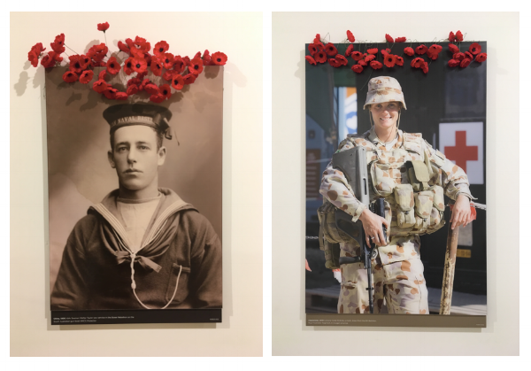 The images and exhibits at the National War Memorial and Museum were amazing. These two shots were in the same long hallway of portraits. One from before WWI and one shot recently.