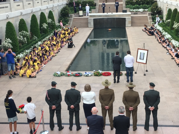 At the end of every day the Memorial farewells visitors with its moving Last Post Ceremony in the Commemorative Area. Each night the ceremony shares a different story behind one of the names on the Roll of Honour. It was very moving and we felt privileged to observe it.