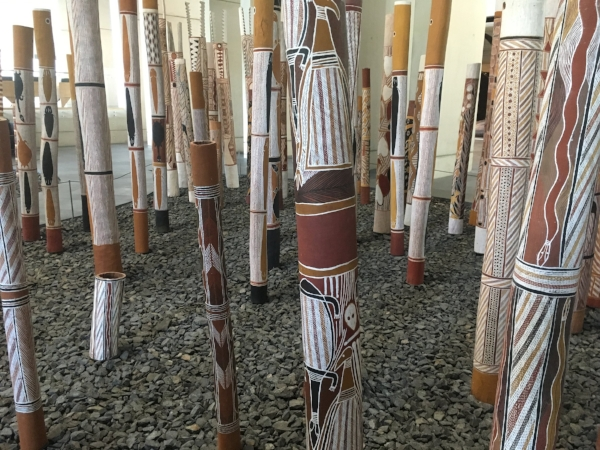 The collection of Aboriginal Air at the National Gallery in Canberra was impressive.