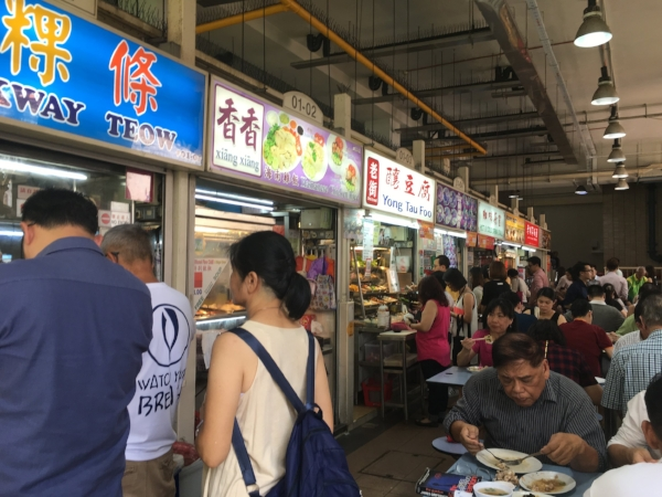 Singapore's many Hawker Centers fuel this city with an array of cheap eats. One rule - if you see a tissue pack on the table, that seat is taken!
