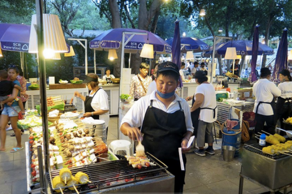 The Cicada Night Market was just down the street so we were able to use it as our outdoor kitchen. There were dozens of stalls serving small portions of anything and everything you could want to try. A great way to sample Thai cuisine.