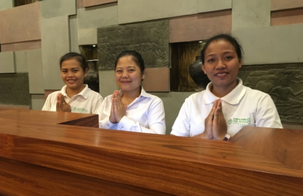 These delightful young ladies showed us what Cambodia's famous hospitality is all about.