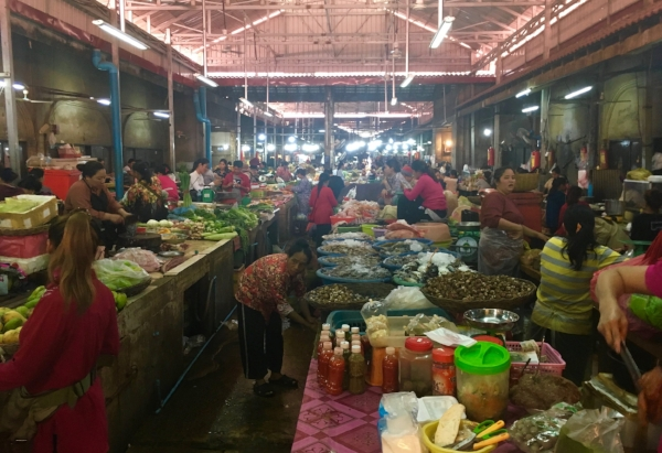 The Old Market in the center of Siam Reap was a little overwhelming - but as always fascinating.