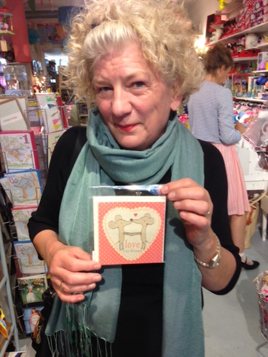 A new use of the camera - I take pictures of romantic cards I would have bought for Michael in the past. Now I just show him the picture and give him a kiss instead.