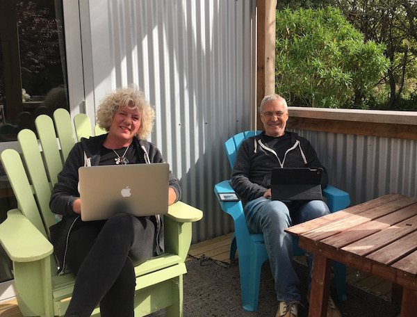 We couldn't do what we do if we weren't plugged into the grid. But fortunately, we get to stay connected in some very nice places. Portabello, New Zealand, for example.