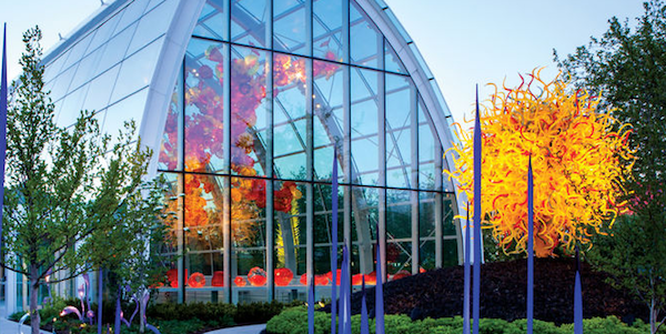 Swirling color dazzled inside and outside the Chihuly Garden and Glass.